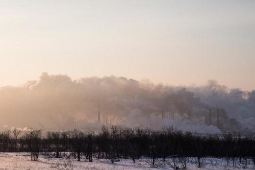 Вид на Новотроицк со стороны Орска