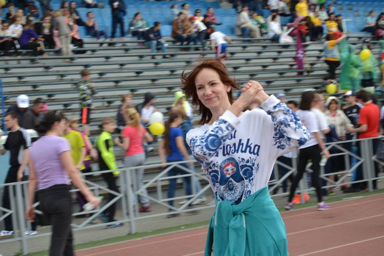 Замдиректора «Акварели» Светлана Узбекова на «Зеленом марафоне» Фото: страница Марины Ушаковой в Facebook