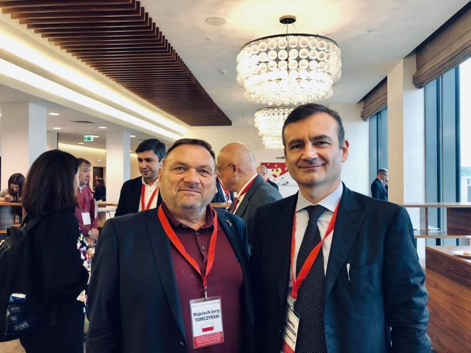 Войцех Томчински и Думитру Латичевски из Глобального фонда на Региональном совещании. Фото: Инна Гаврилова
